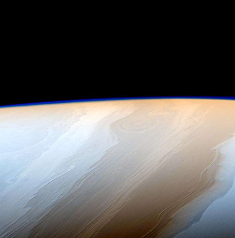 Bandes nuageuses dans l'atmosphère de Saturne. © Nasa, JPL-Caltech, Space Science Institute
