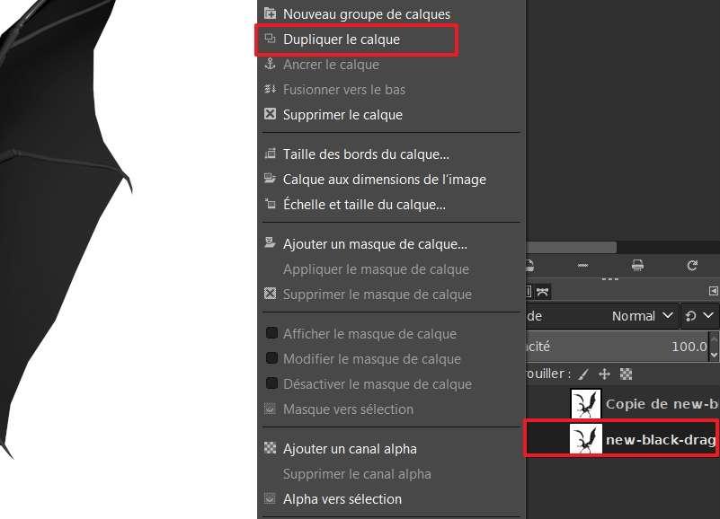 Créez une copie de votre image sur laquelle vous effectuerez le détourage. © The GIMP Team