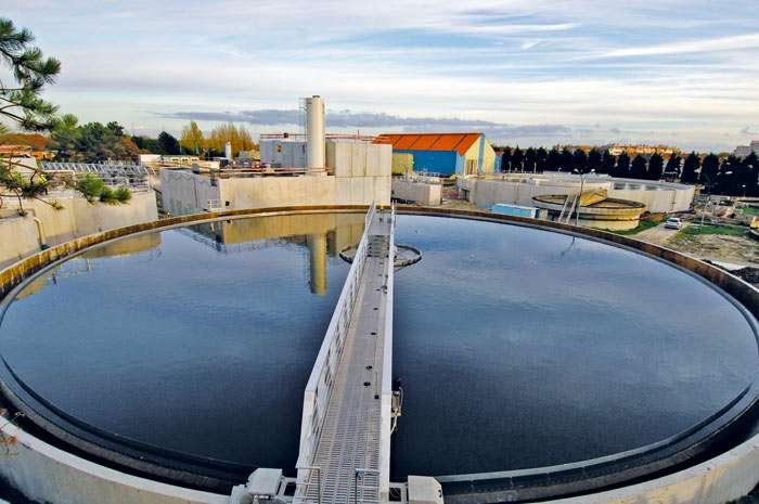 Bassin d'une station d'épuration à Dunkerque. © Communauté urbaine de Dunkerque Grand Littoral