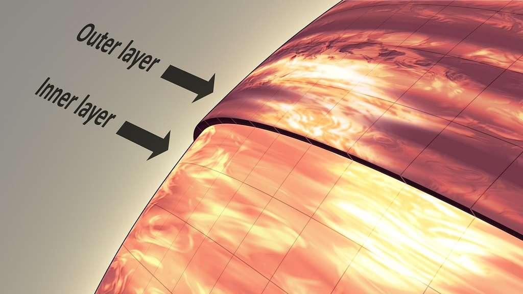 La vision infrarouge de Hubble pénètre plus en profondeur que celle de Spitzer. Les astrophysiciens ont ainsi découvert la présence de deux couches nuageuses différentes dans l'atmosphère de la naine brune 2MASSJ22282889-431026. © Nasa, JPL-Caltech