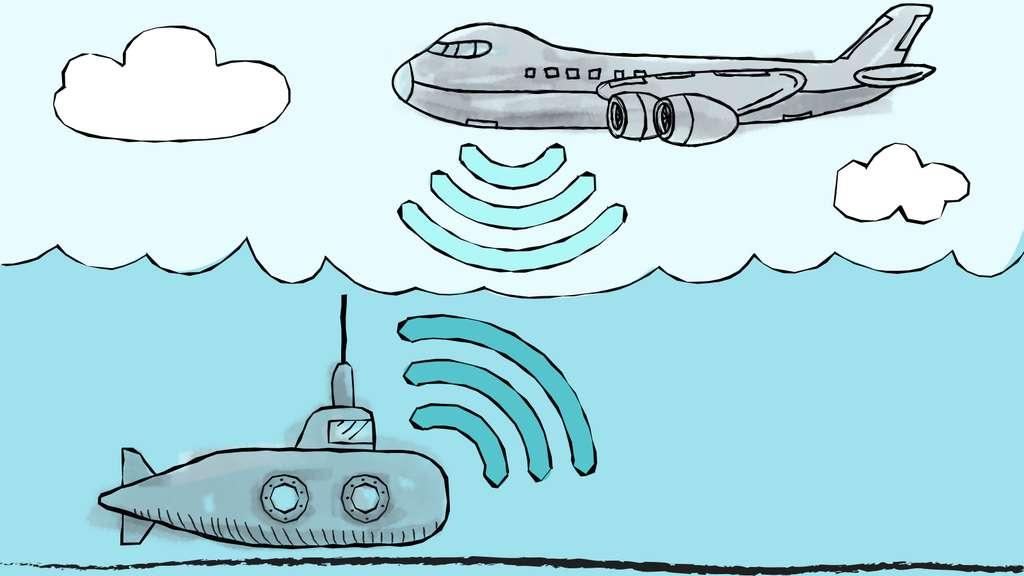 Un moyen de communication sans fil entre sous-marins et avions. © Christine Daniloff/MIT