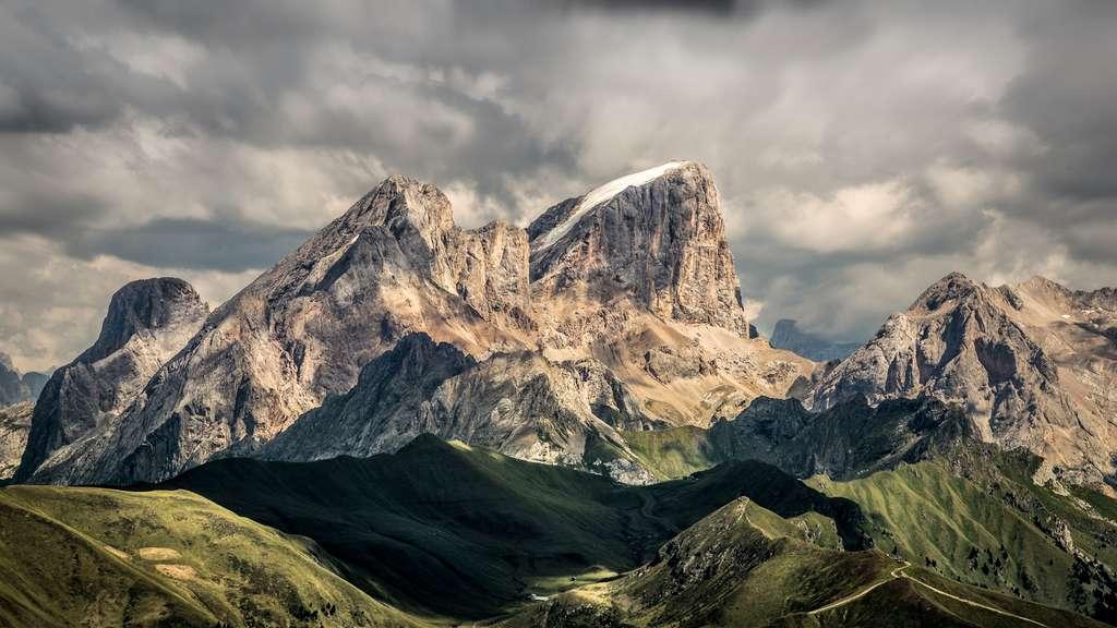 Le glacier de la Marmolada, le plus haut sommet des Dolomites