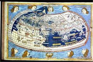 La géographie du Monde selon Ptolémée, oeuvre de l'enlumineur N. Germanus en 1466. Crédits : Bibliothèque Royale de Belgique