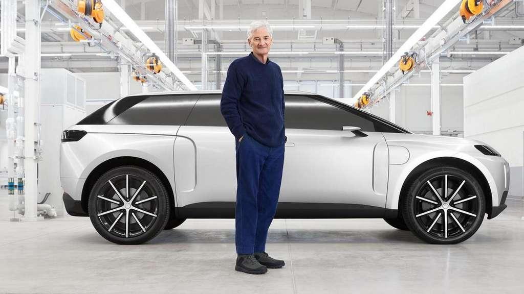 Le SUV électrique Dyson N526 arbore des lignes sportives et avec un parebrise fortement incliné. © Sunday Times/Dyson