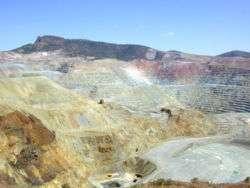 Mine du cuivre à ciel ouvert, Nouveau-Mexique, États-Unis. Crédits : http://fr.wikipedia.org