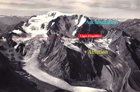 Mont Vélan (VS) 3731 m - Glaciers de Valsorey (à gauche) et de Tseudet (à droite) vers 1935 - Ed. Gyger - Tous droits de reproduction interdit