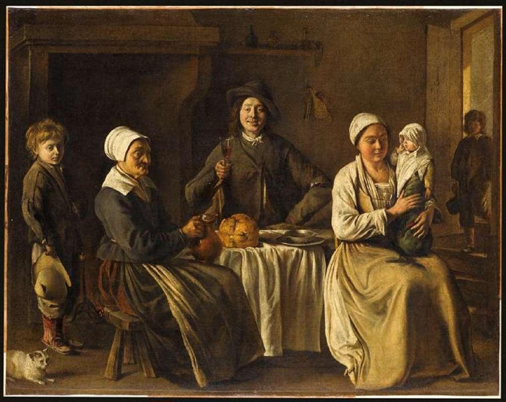 « La famille heureuse ou le retour du baptême » par Louis Le Nain vers 1640. Musée du Louvre. © RMN-Grand Palais (musée du Louvre), Jean-Gilles Berizzi