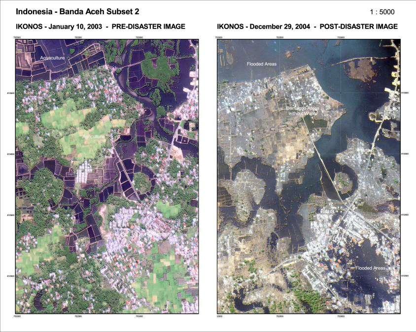 Banda Aceh - Indonésie : avant et après le Tsunami