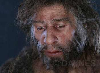 Néanderthal a vécu durant 300.000 ans. Ici, un Néanderthalien du Proche-Orient (Shanidar, Iraq). © Atelier E. Daynes