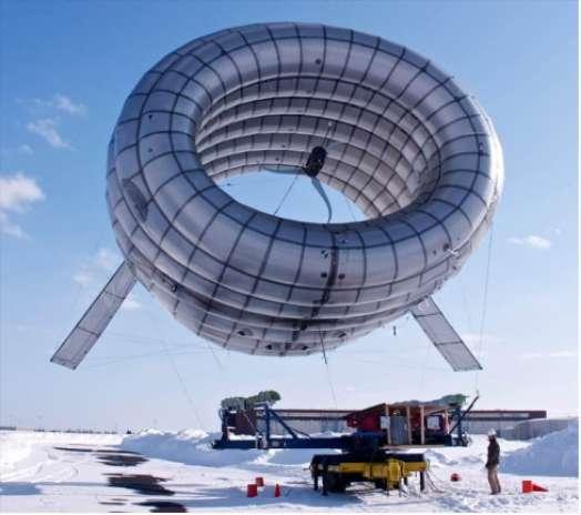 Les sources d'énergies renouvelables ont comme inconvénient une production irrégulière. Les réseaux intelligents peuvent aider à mieux ajuster les disponibilités aux demandes et deviendront probablement indispensables. Les développements techniques étudiés actuellement vont clairement dans le sens d'une augmentation de la part de ces énergies, comme en témoigne cette éolienne volante, l'Airborne Wind Turbine, du Massachusetts Institute of Technology (MIT) et de l'université Harvard. © Altaeros Energies