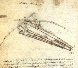 Etude pour une machine volante. Licence Commons