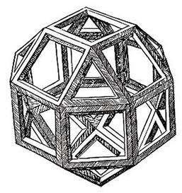 Huit triangles et dix-huit carrés : c'est le rhombicuboctaèdre. (Licence Commons)