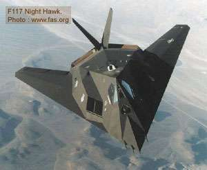 L'avion furtif F-117 Night Hawk. © www.fas.org