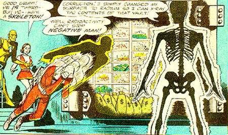 On ne cherchera pas ici d'exactitude scientifique, le radium n'émettant pas de rayons X, et les rayons X n'étant pas visibles à l'œil nu.