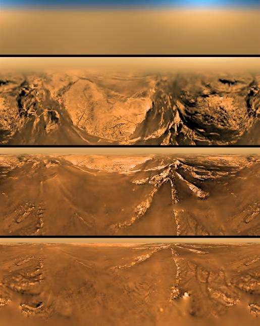 Images de la descente de Huygens sur Titan