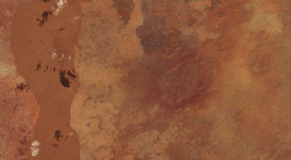 Le cratère de Woodleigh est l'un des plus grands au monde : il pourrait mesurer plus de 100 km de diamètre. © Bing Maps