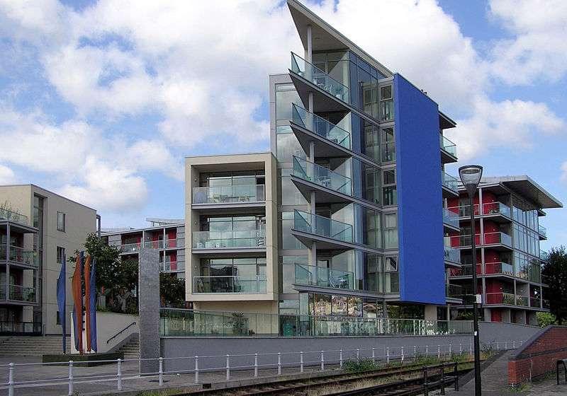 Appartements sur le port de Bristol, en Angleterre