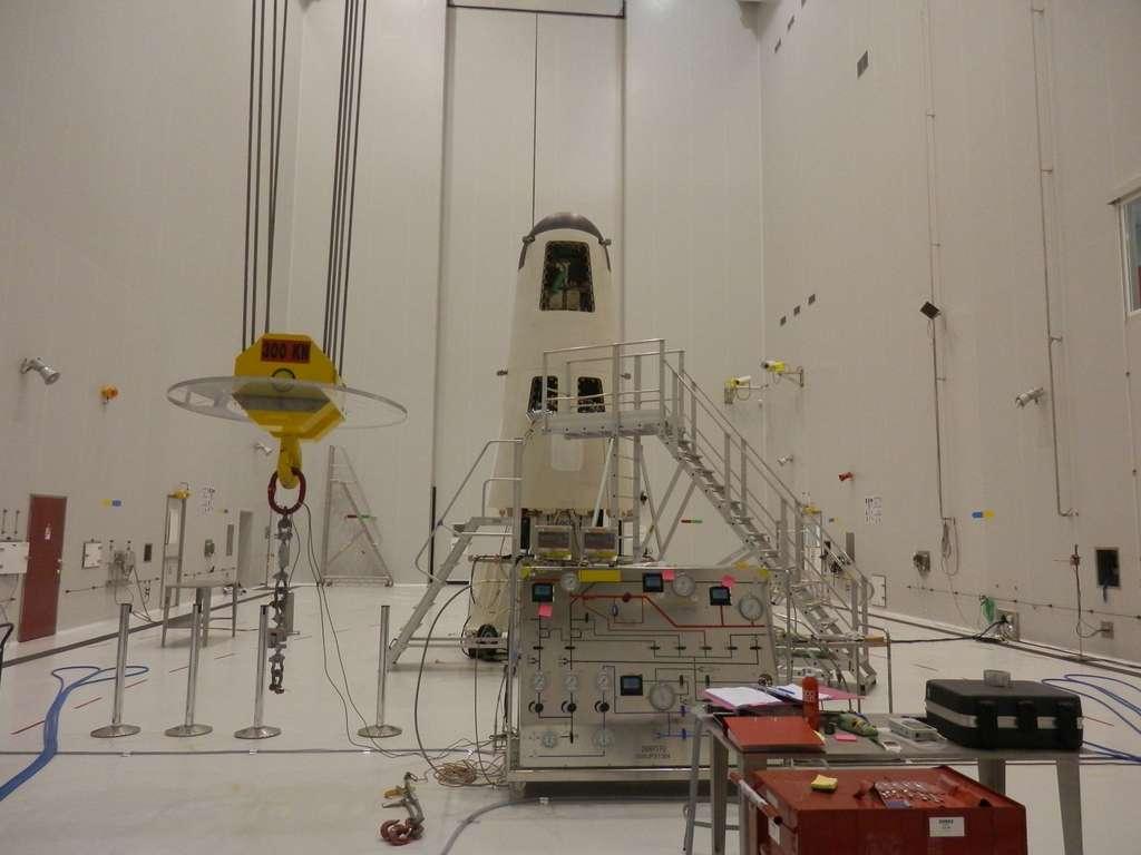 Le véhicule IXV construit par Thales Alenia Space pour le compte de l'Agence spatiale européenne. © Esa, Cnes, Arianespace