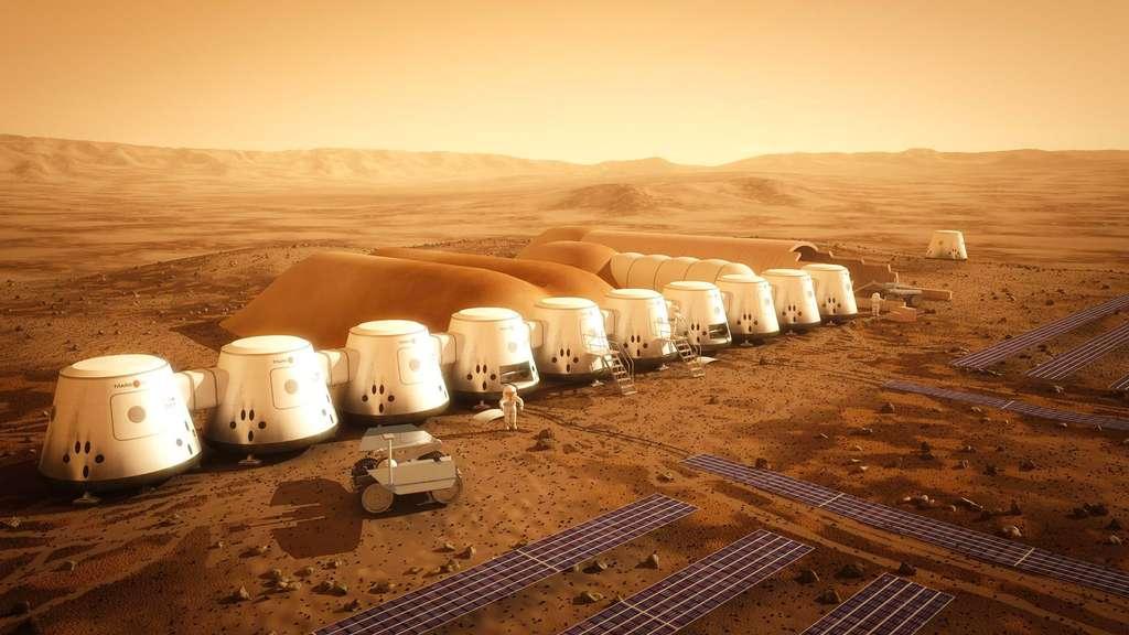 Architecture de la base martienne telle que l'envisage Mars One. © Mars One
