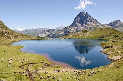 Le lac Gentau reflétant le pic du Midi d'Ossau (Pyrénées-Atlantiques, France) : tout un écosystème. © Myrabella Creative Commons Attribution-Share Alike 3.0 Unported license.