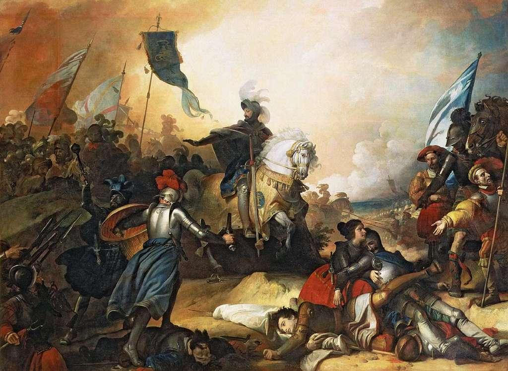 La bataille de Marignan par Alexandre Evariste Fragonard en 1836. Château de Versailles, Galerie des Batailles. © RMN-Grand Palais, Jean -Luc Manaï.