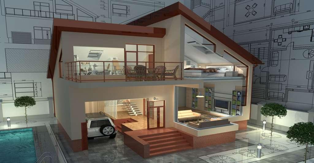 Comment construire sa maison en 3D. © Nikonaft Shutterstock
