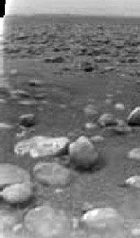Huygens sur Titan - Premier paysage