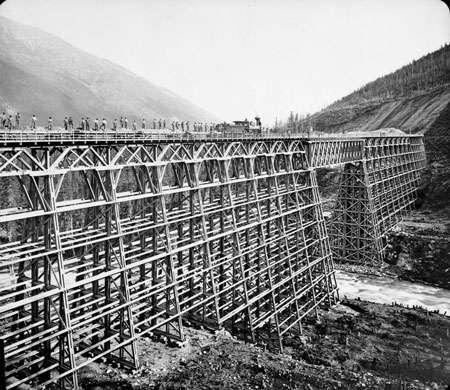 Pont en bois au Canada