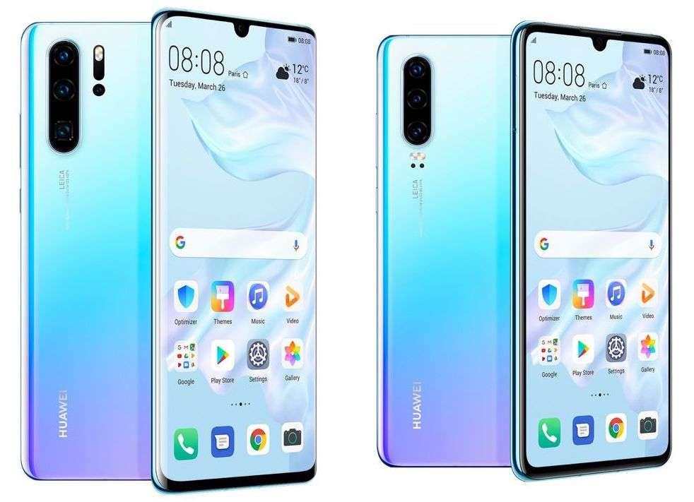 La différence entre le P30 Pro et le P30 se voit à l'arrière du smartphone avec la présence d'un zoom optique de 125 mm. © Huawei