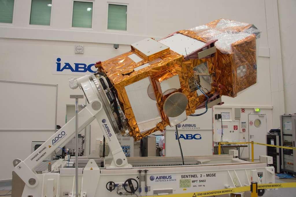 Le satellite Sentinel 2A a subi une série de tests au centre d'essais d'IABG pour vérifier son bon fonctionnement en orbite. © Rémy Decourt