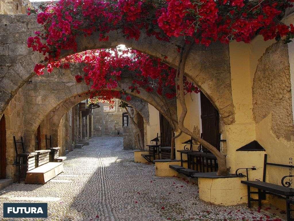 Grèce : Ruelle de Rhodes la plus grande île du Dodécanèse