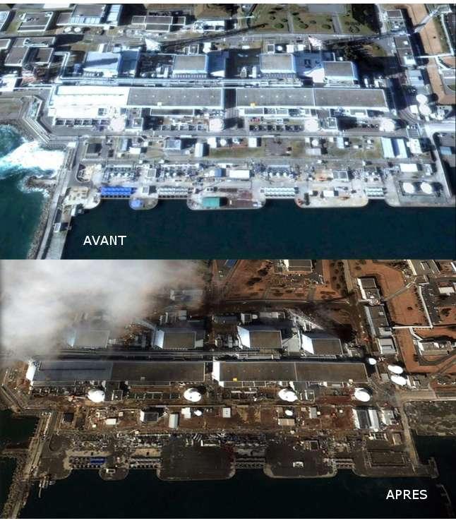 Centrale nucléaire de Fukushima, juste après le tsunami
