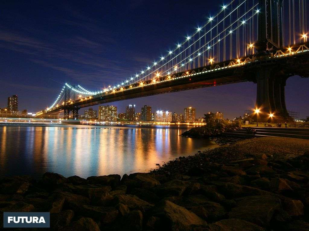USA : Manhattan bridge vu de Brooklyn
