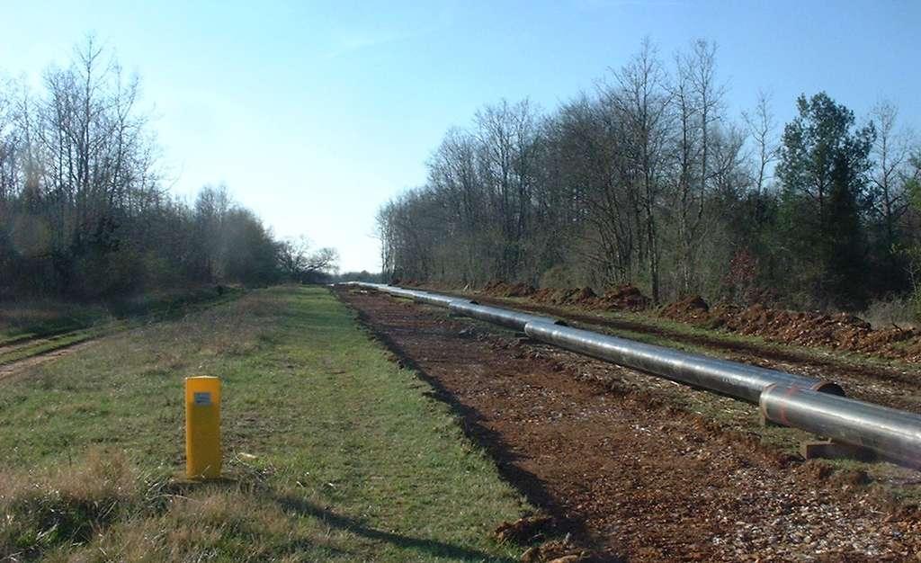 Le premier gazoduc a été construit en 1891 aux États-Unis. Ici, un chantier de doublement de gazoducs en Charente en 2008. © chazelles.info, Wikipedia, CC by-sa 2.0