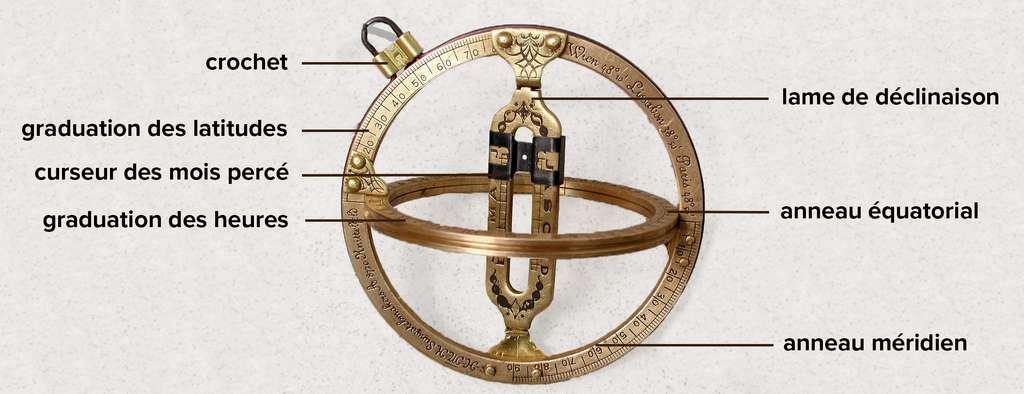 Un exemple d'anneau équinoxial basé sur le modèle de William Oughtred. © jailbird, CC by-sa 2.0 de