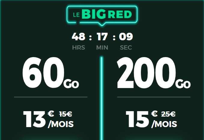 Forfait 200Go et 60Go en promotion © RED By SFR