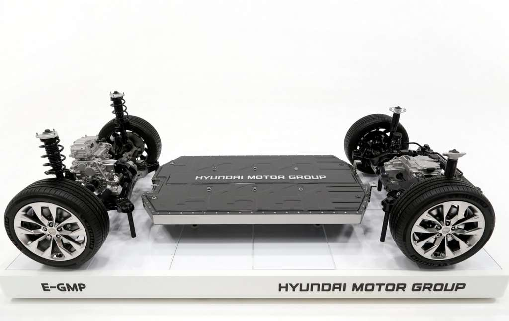 La plateforme E-GMP de Hyundai qui servira de base à sa gamme de voitures électriques. © Hyundai