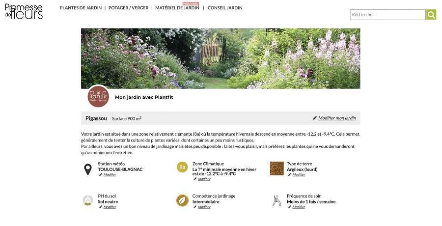 Réussir son jardin avec une application Plantfit. © Promesse de fleurs