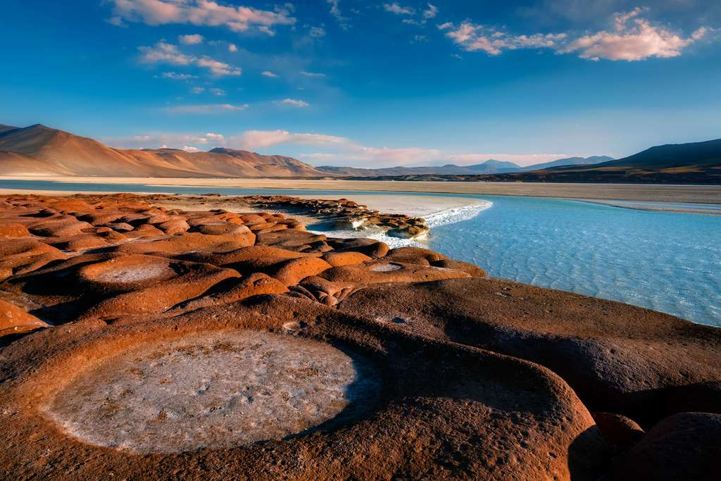 Des Piedras Rojas et un lagon bleu