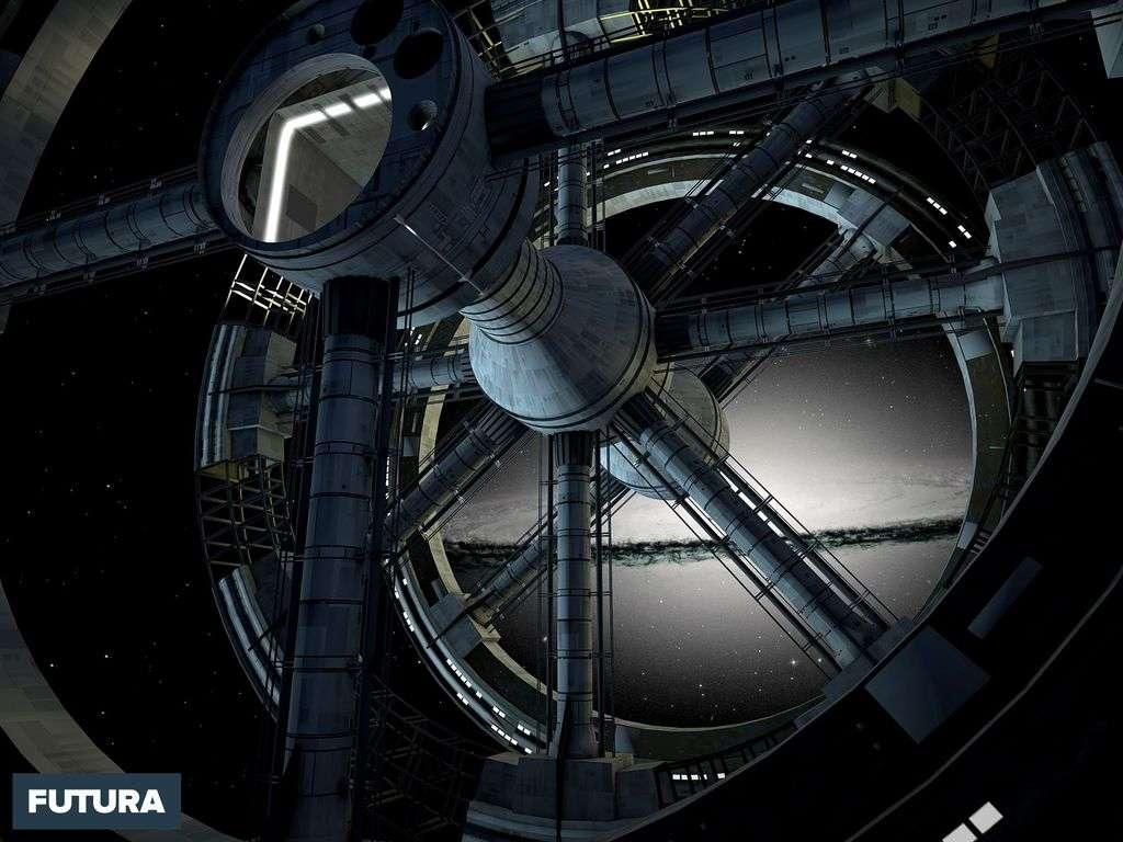 Vue sur la voie lactée depuis la station spatiale