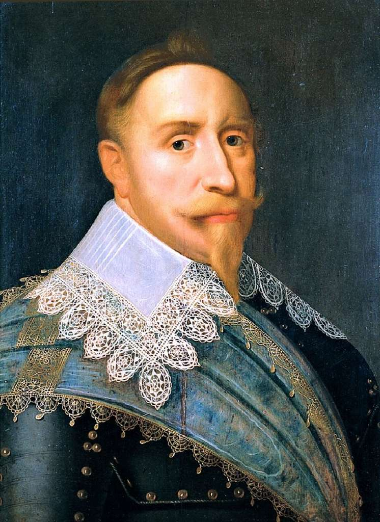 Portrait de Gustave Adolphe II, roi de Suède, par Jacob Hoefnagel vers 1624. Musée The Royal Armoury, Stockholm. © Wikimedia Commons, domaine public