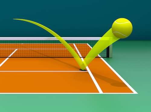 La modélisation de l'impact de la balle est à la base du concept Hawk-Eye utilisé dans les plus grands tournois du circuit. © mipan, stock.adobe.com