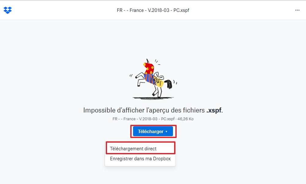 Téléchargez le fichier contenant la liste de toutes les radios françaises. © Dropbox
