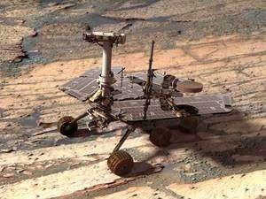 Comme son jumeau Spirit, Opportunity fait partie du progamme Mars Exploration Rover. Crédit MER / Cornell / JPL / Nasa