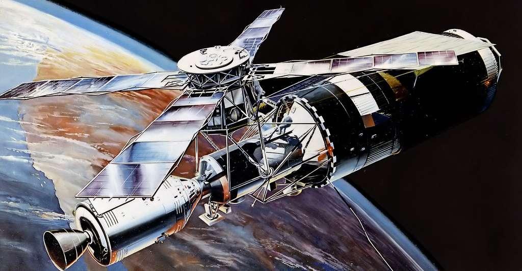 Vue d'artiste de Skylab en orbite. © NASA Marshall Space Flight Center