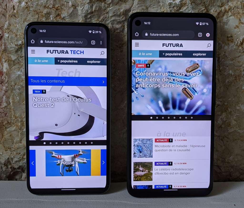 L'écran Pixel 5 a un léger avantage sur celui du Pixel 4a 5G dans certaines conditions, notamment pour le jeu vidéo. Mais... © Marc Zaffagni