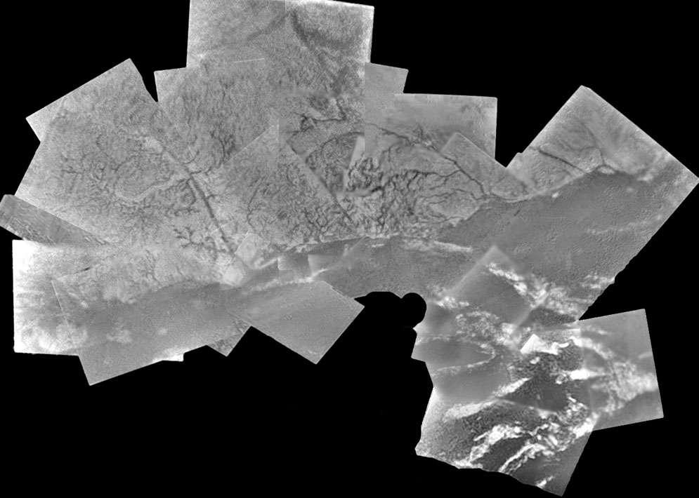 Mosaïque de la zone d'atterrissage de Huygens