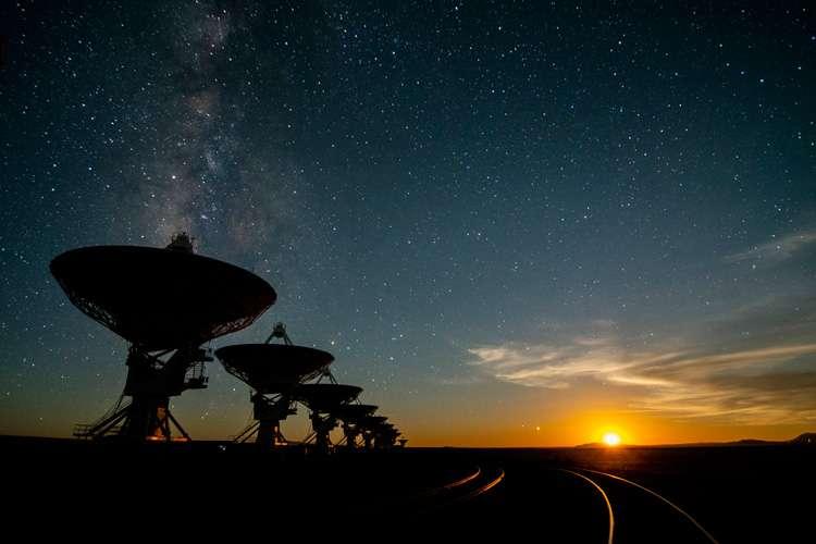 Les antennes du VLA au Nouveau-Mexique. L'observatoire va collaborer avec le programme Breakthrough Listen. © Seti Institute