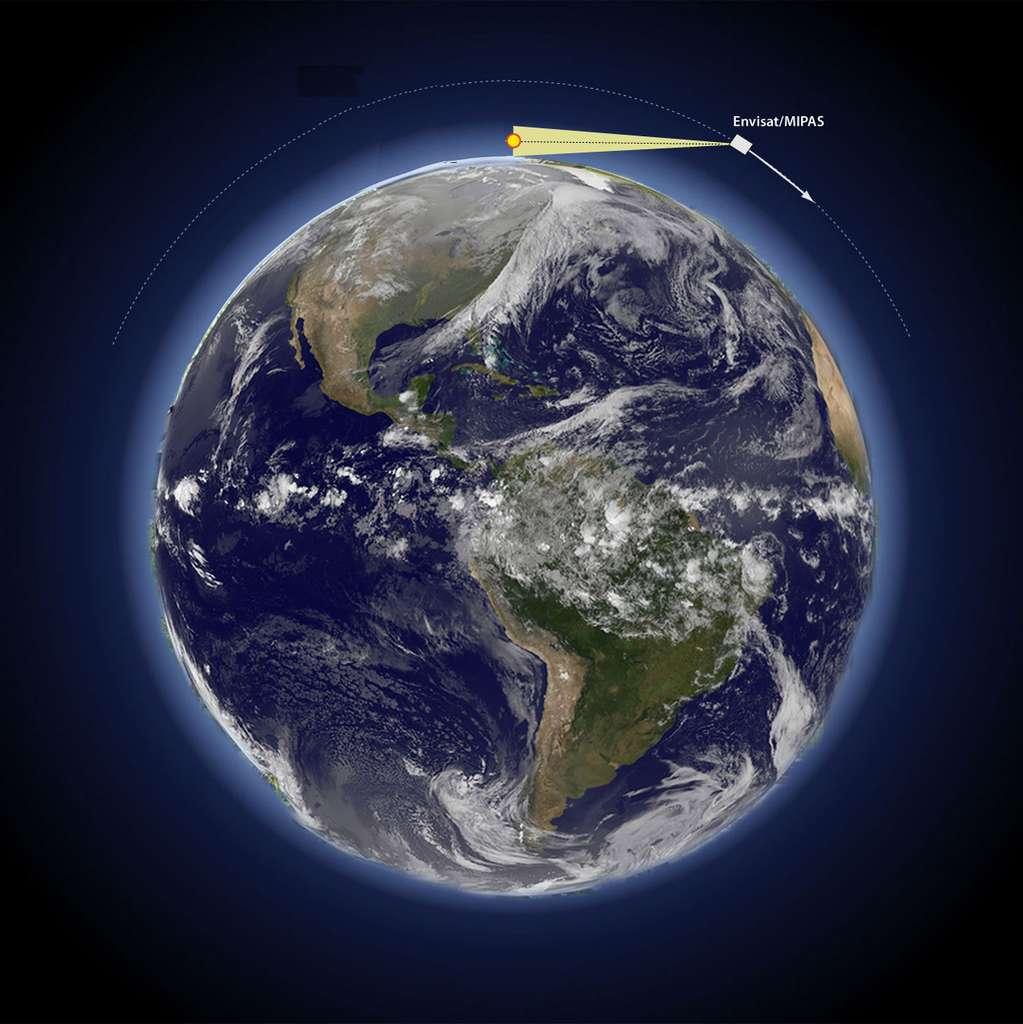 L'instrument MIPAS du satellite ENVISAT permet de mesurer la composition chimique de la haute atmosphère et contribue à rendre compte de l'état d'équilibre thermodynamique des gaz. © Yves Fouquart - Reproduction interdite - Tous droits réservés