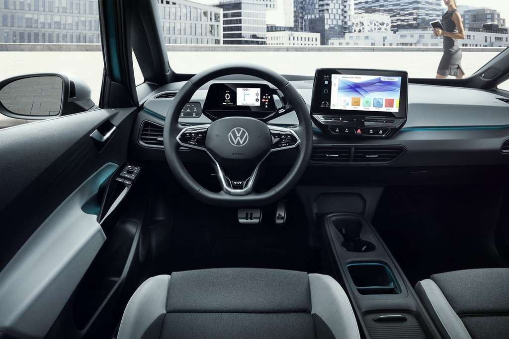 The interior of the Volkswagen ID.3 plays sobriety.  © Volkswagen